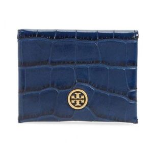 NWT Tory Burch parker embossed foldable card case